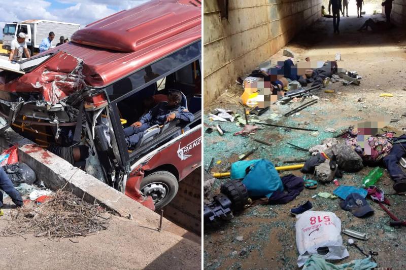 """Tres fallecidos y varios heridos en aparatoso accidente de autobús """"rojito"""" en Anzoátegui (Fotos)"""