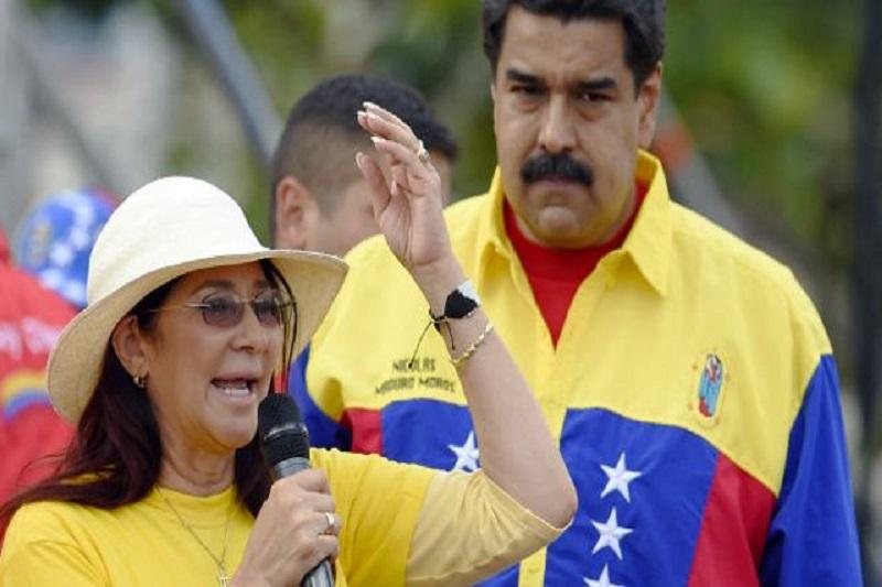 Las cámaras de VTV pillaron a Maduro discutiendo con Cilia