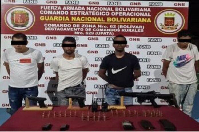 Desmantelan banda «El Ciego» con arma de guerra en Bolívar