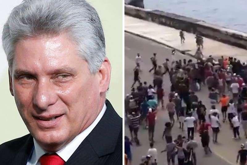 """Díaz-Canel llamó a los """"revolucionarios comunistas"""" a """"combatir"""" a los cubanos que protestan: """"Estamos dispuestos a dar la vida"""" (Video)"""